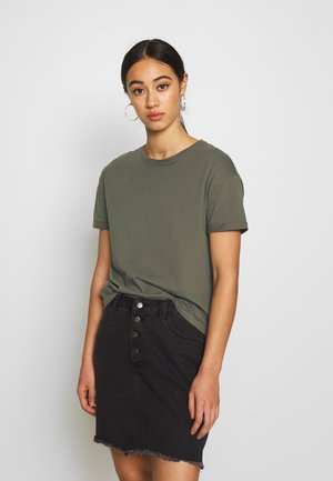 NMBRANDY TOP - T-shirt basique - olive night