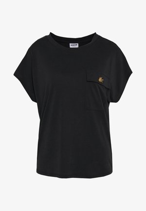 NMDENNY POCKET   - T-shirt - bas - black