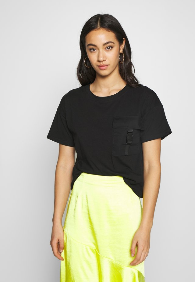 NMSUMMER - T-shirt imprimé - black