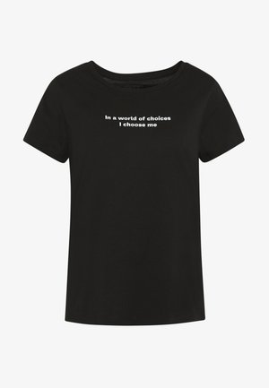 NMNATE WOMENSDAY - T-shirts med print - black