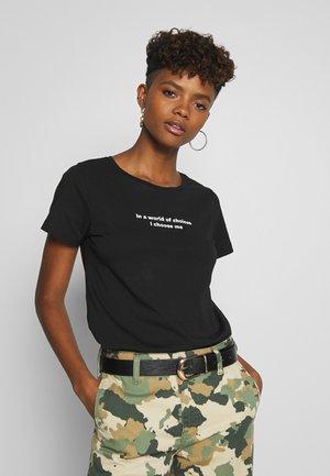 NMNATE WOMENSDAY - Print T-shirt - black