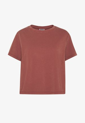 NMNANA ELLY WASHED - T-shirt con stampa - sable