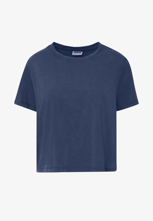 NMNANA ELLY WASHED - T-shirts med print - mood indigo/garment dye/acid wash