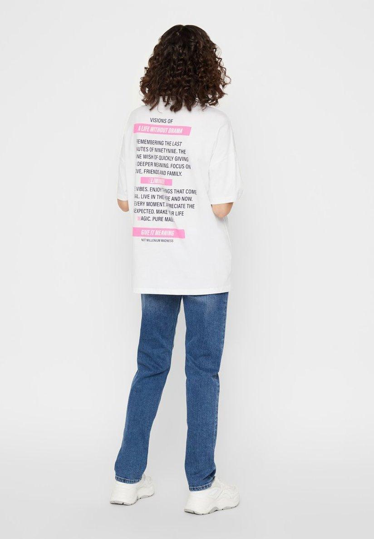 Noisy May T-shirts med print - bright white