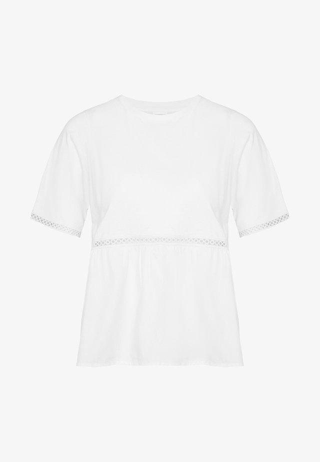 NMTERIA LOOSE TOP - T-Shirt basic - bright white