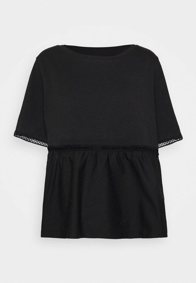 NMTERIA LOOSE TOP - T-shirt basique - black