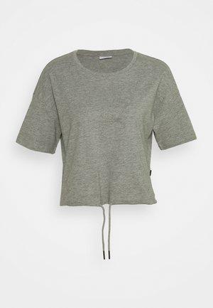 NMDURU LOOSE STRING - T-shirts - light grey melange