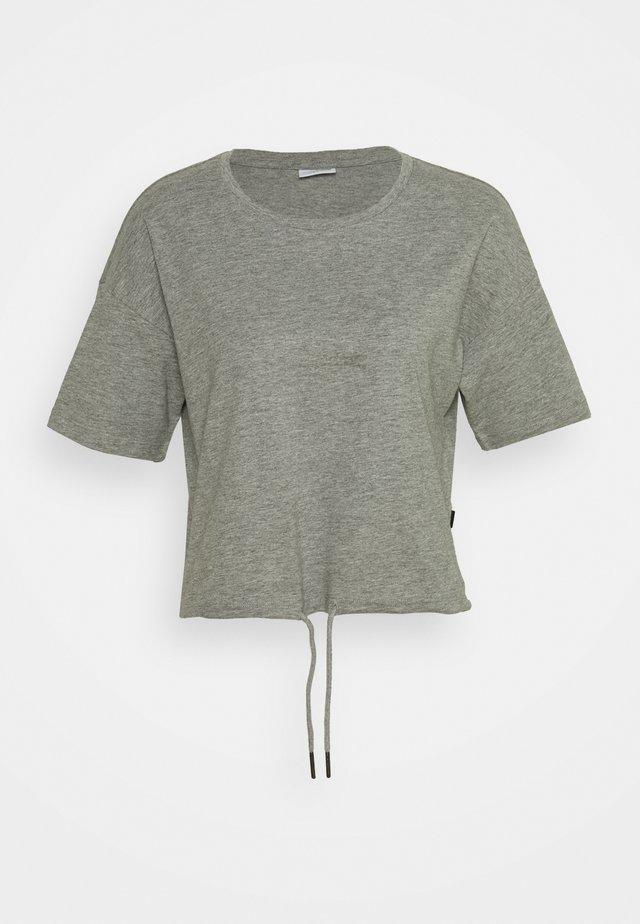 NMDURU LOOSE STRING - T-Shirt basic - light grey melange