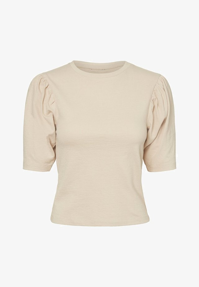 PUFFÄRMEL - T-Shirt print - beige