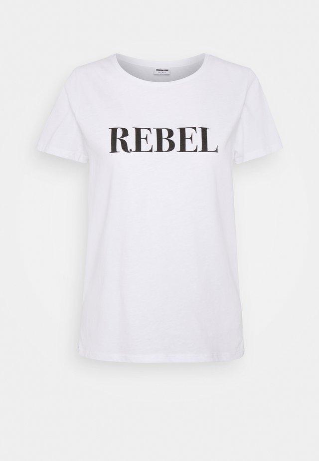 NMNATE NEW REBEL - T-shirt print - bright white