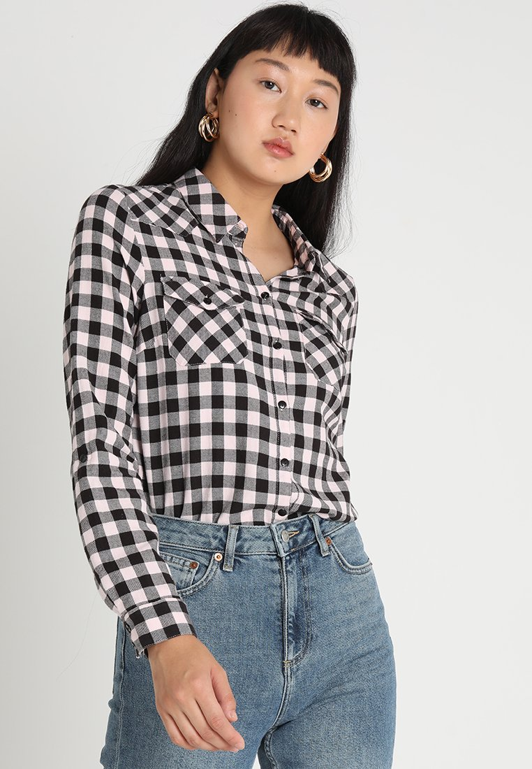 Noisy May - NMERIK - Button-down blouse - black/white