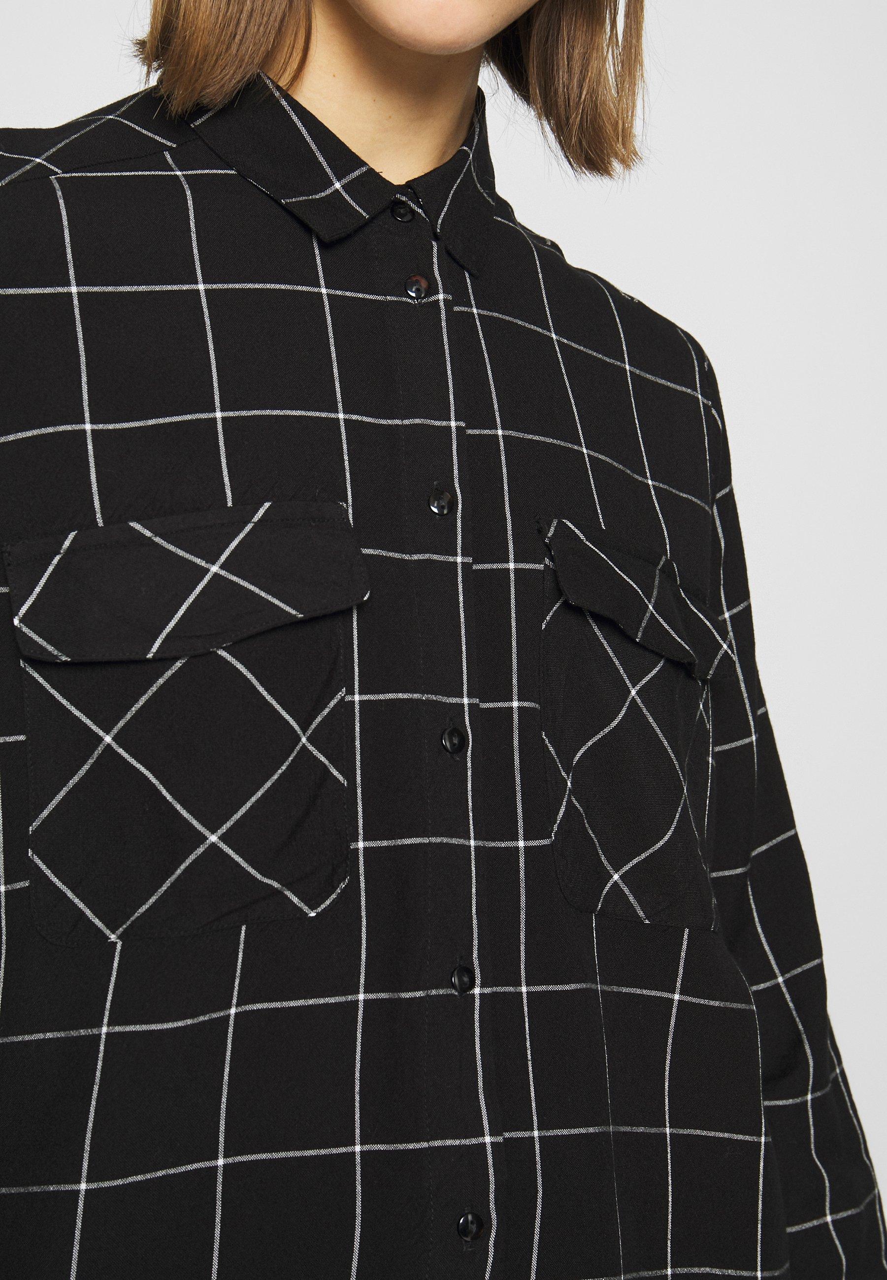 Noisy May Nmcheck Erik Oversize - Skjorta Black/white