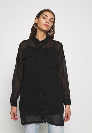 NMNENO NEW LONG SHIRT - Camicia - black