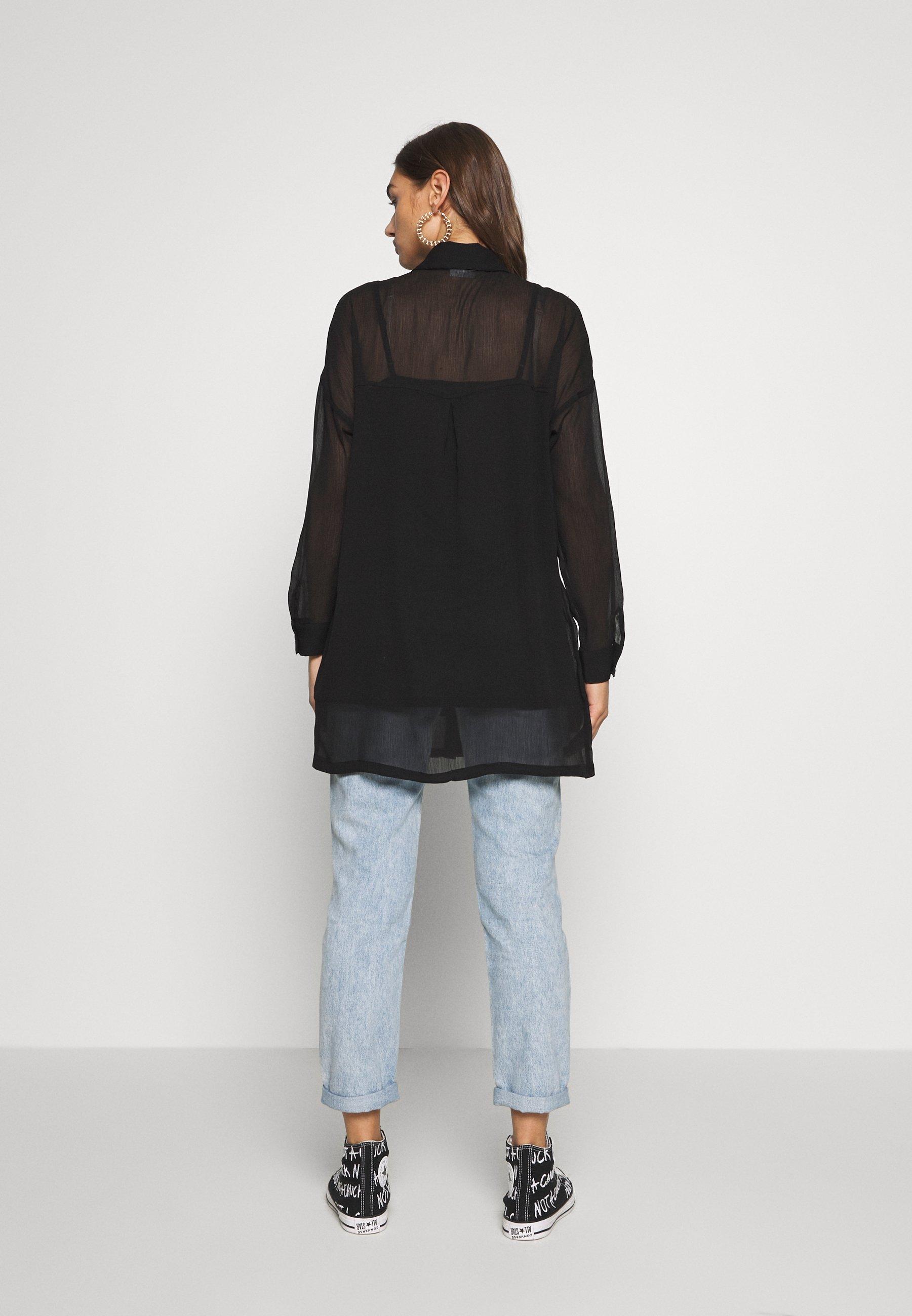 Noisy May NMNENO NEW LONG SHIRT - Skjorte - black