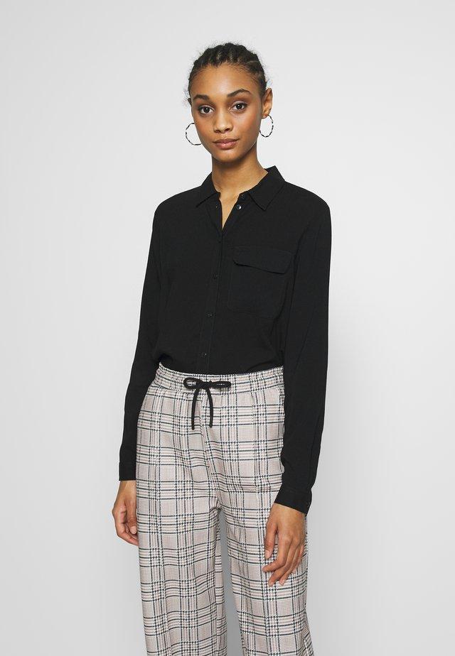 NMKEKE ZALA - Button-down blouse - black