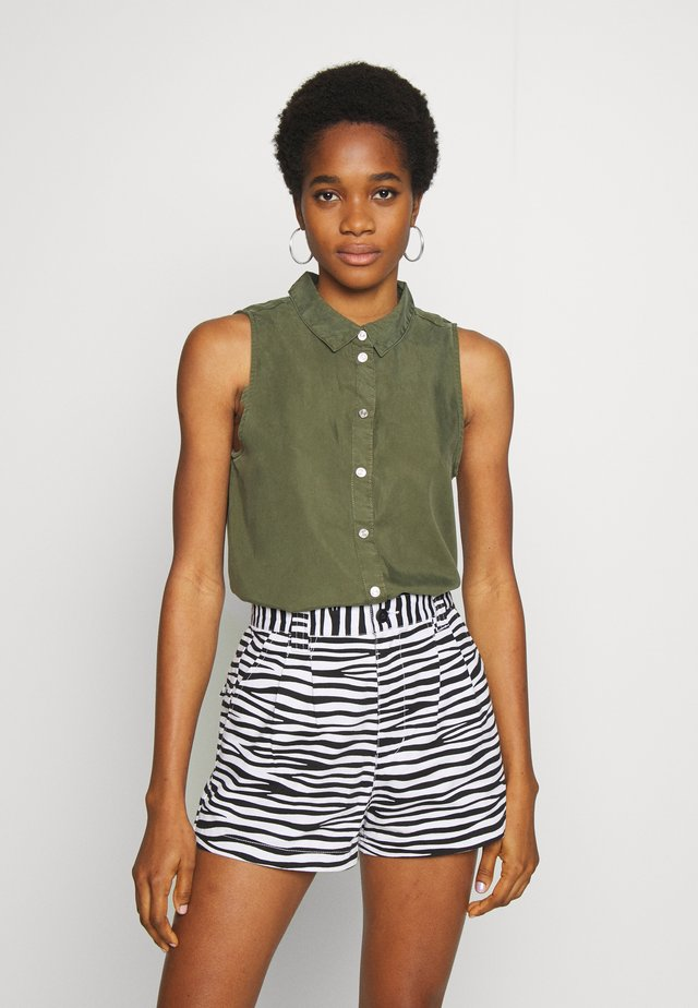NMDANNY ENDI - Button-down blouse - olive night