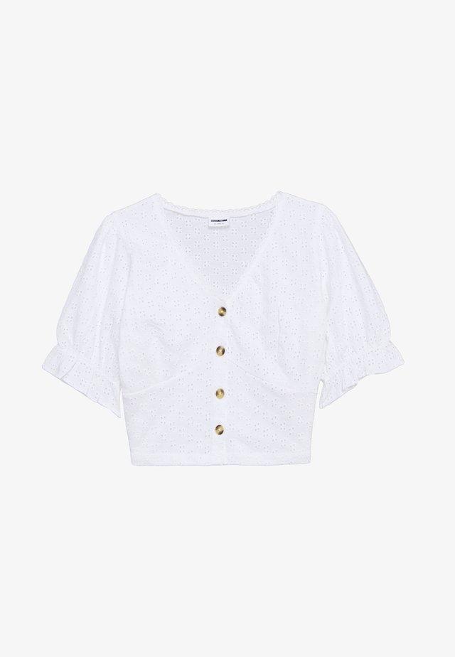 NMBONNY 2/4 SLEEVE - Bluzka - bright white