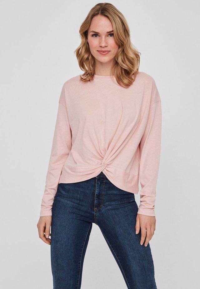 Langærmede T-shirts - silver pink