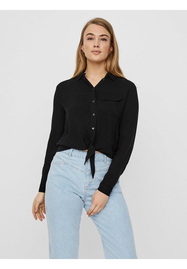 Button-down blouse - black 2