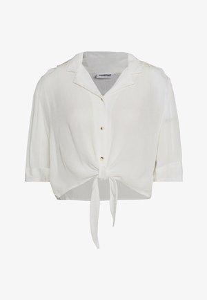 NMALBERTE CROPPED TIE - Hemdbluse - bright white