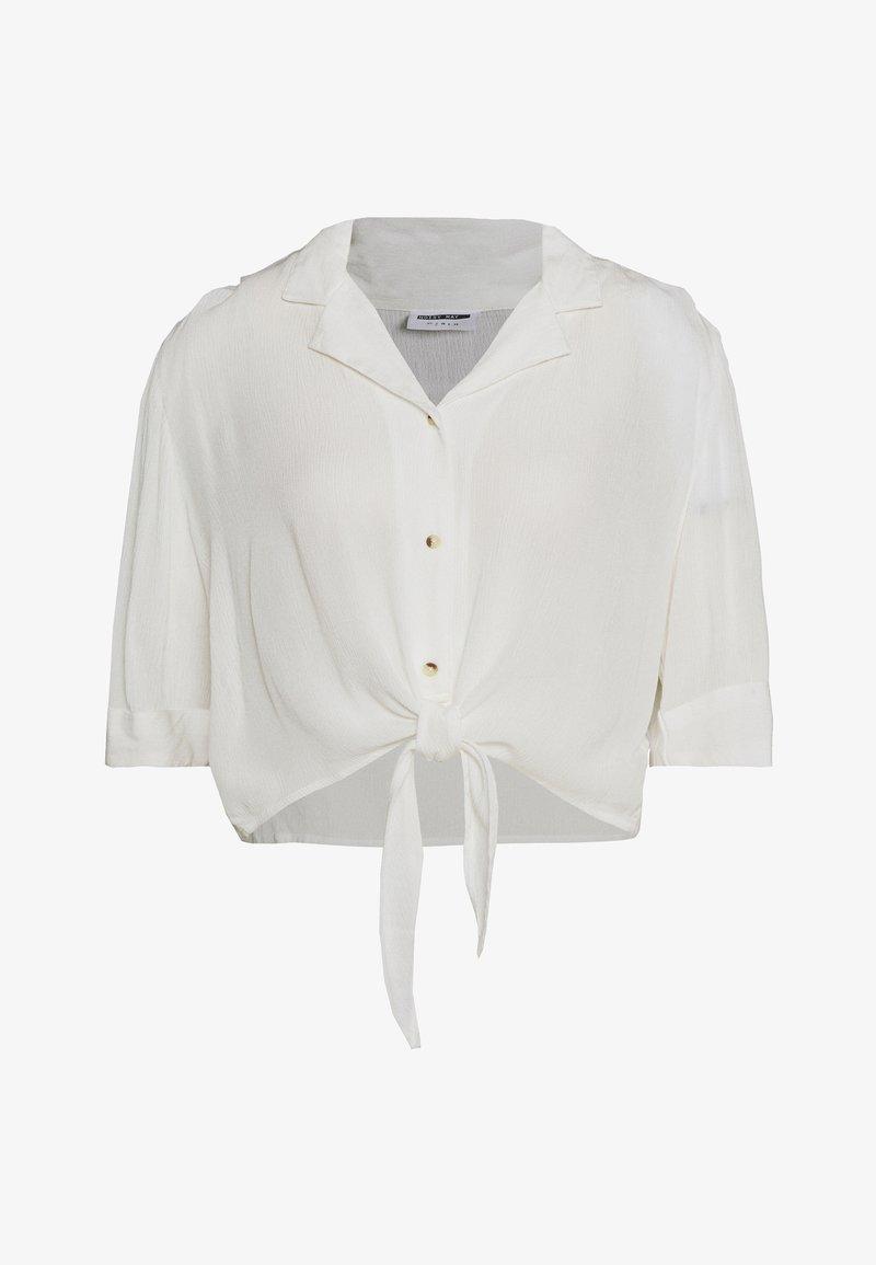 Noisy May - NMALBERTE CROPPED TIE - Košile - bright white