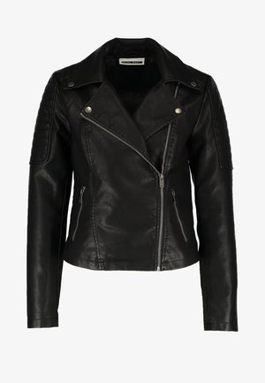 NMREBEL - Veste en similicuir - black