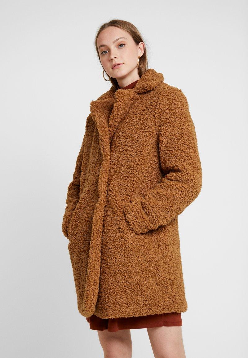 Noisy May - NMGABI - Zimní kabát - brown sugar