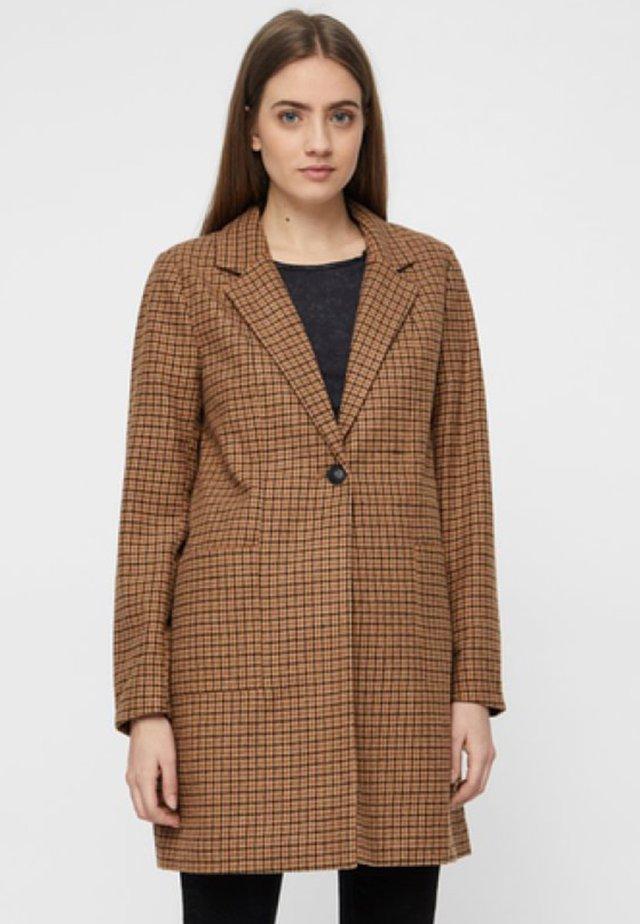 NMJOHNNY COAT - Płaszcz wełniany /Płaszcz klasyczny - brown