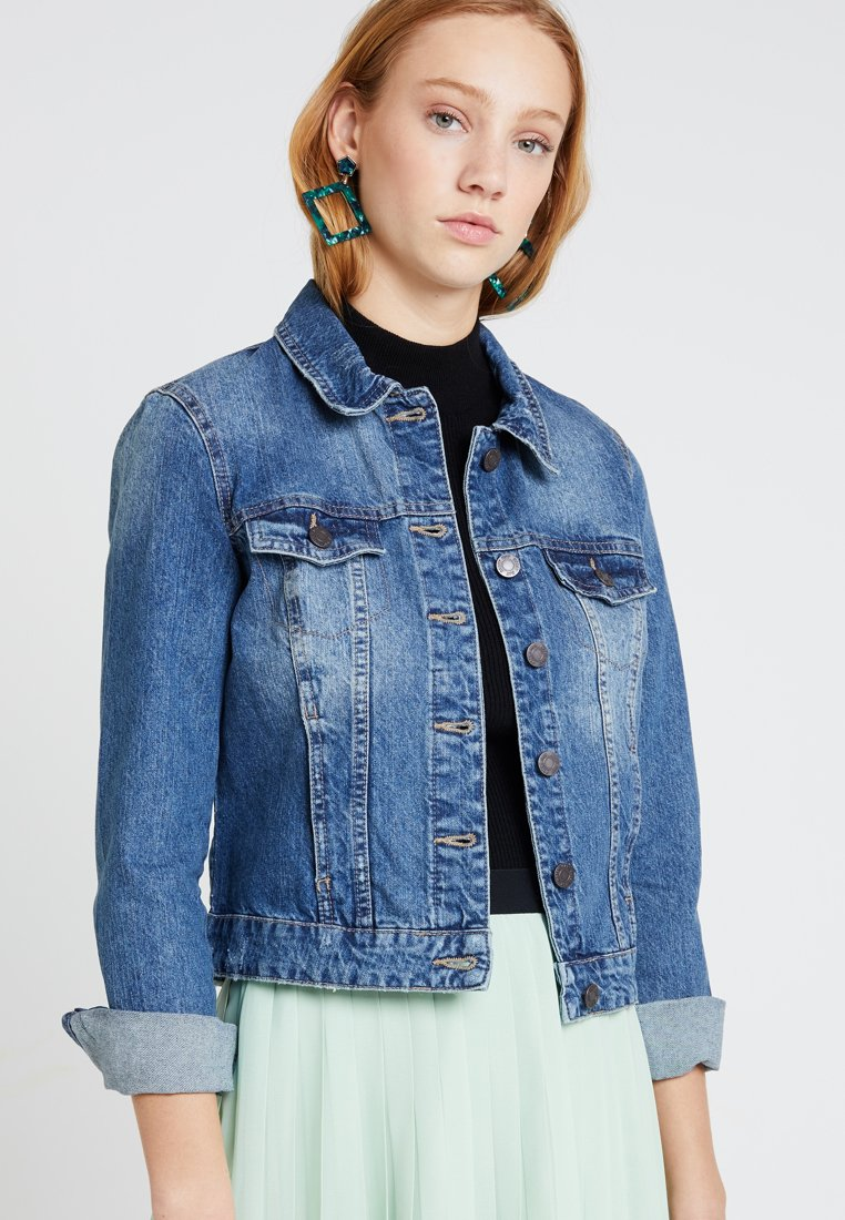 Noisy May - NMADA JACKET VI024MB  - Denim jacket - medium blue denim