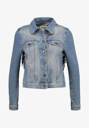 NMLINNEA FESTIVAL JACKET - Denim jacket - medium blue denim