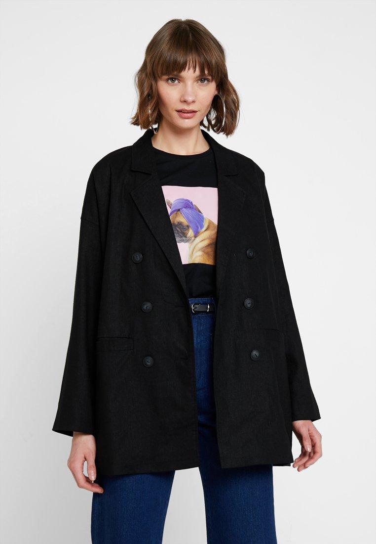 Noisy May - NMEATHAN - Krátký kabát - black