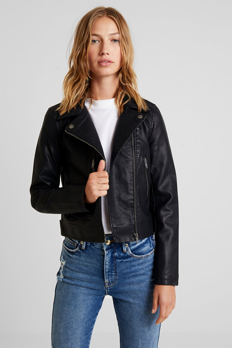 Noisy May - NMKARI JACKET - Kunstlederjacke - black