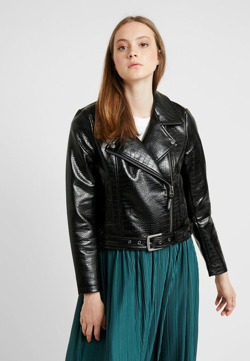 Noisy May - NMMASJA JACKET - Faux leather jacket - black