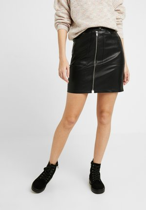 SHORT SKIRT - Bleistiftrock - black