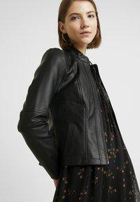 Noisy May - NMDACY JACKET - Faux leather jacket - black - 3