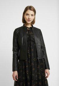 Noisy May - NMDACY JACKET - Faux leather jacket - black - 0