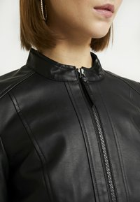 Noisy May - NMDACY JACKET - Faux leather jacket - black - 5