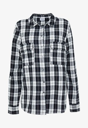 NMMARK CHECK SHACKET - Chaqueta fina - black/white