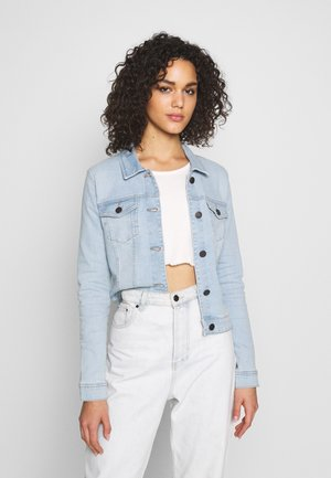 NMDEBRA JACKET - Chaqueta vaquera - light blue denim