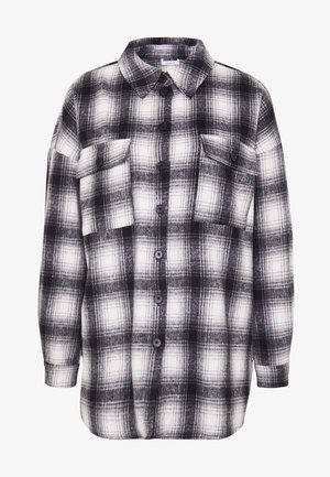 NMFLANNY CHECK  - Button-down blouse - black/with/grey
