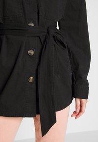 Noisy May - NMVILMA BELT JACKET - Giacca di jeans - black - 4