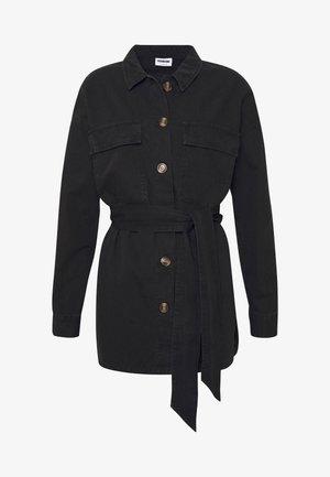 NMVILMA BELT JACKET - Denim jacket - black