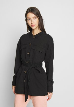 NMVILMA BELT JACKET - Jeansjakke - black