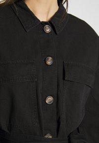 Noisy May - NMVILMA BELT JACKET - Giacca di jeans - black - 6
