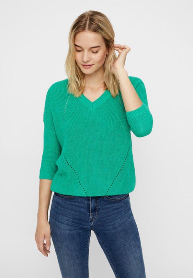 Noisy May - Stickad tröja - holly green