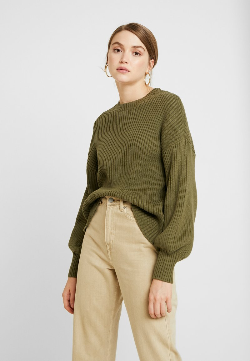 Noisy May - NMVETE O-NECK - Jumper - dusty olive