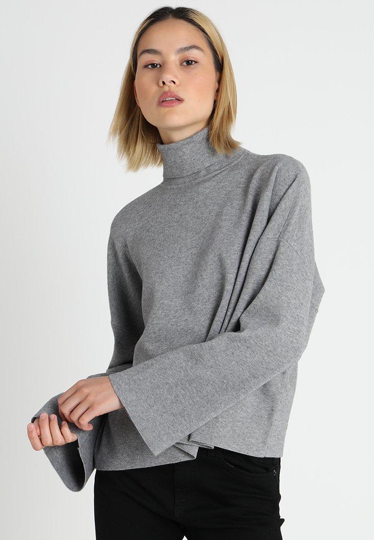 Noisy May - NMSHIP ROLL NECK - Strickpullover - medium grey