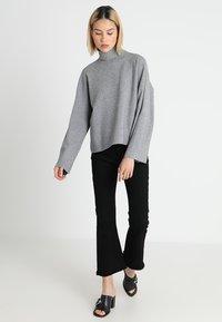 Noisy May - NMSHIP ROLL NECK - Pullover - medium grey - 1