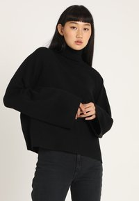 Noisy May - NMSHIP ROLL NECK - Sweter - black - 0