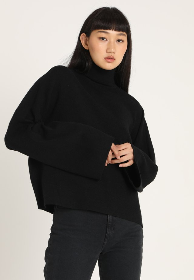 NMSHIP ROLL NECK - Jersey de punto - black